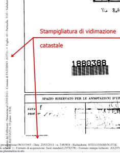 Certificazione delle planimetrie catastali