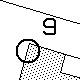 Cerchio e numero in grassetto nelle mappe catastali